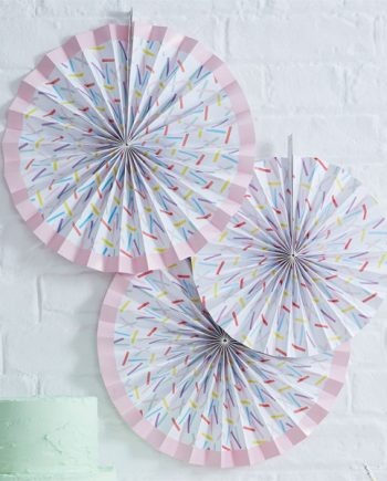 Pick & Mix Party Sprinkles Paper Fan Decorations