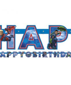 Thunderbirds Party Jointed Happy Birthday Banner