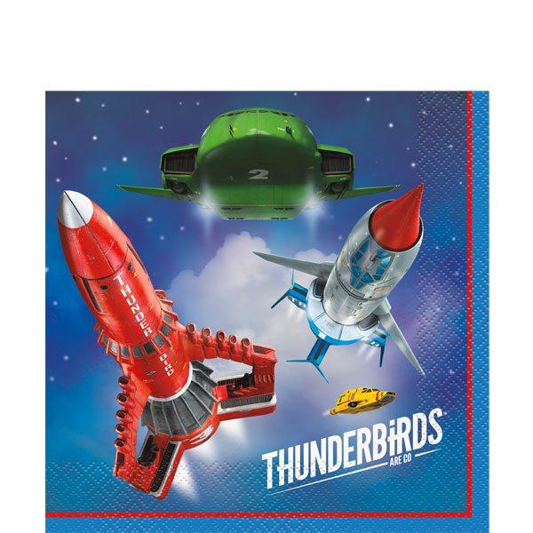 Thunderbirds Party Paper Napkins