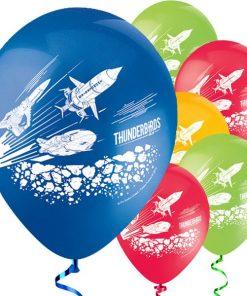 Thunderbirds Party Printed Latex Balloons
