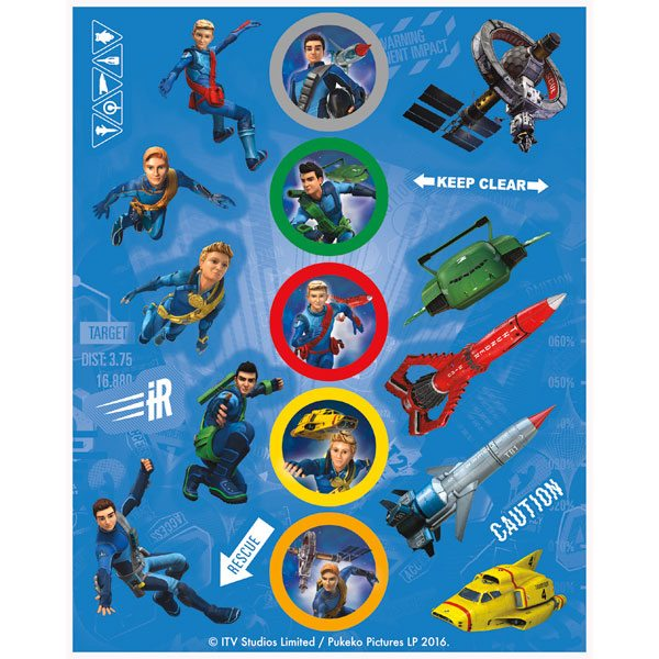 Thunderbirds Party Stickers