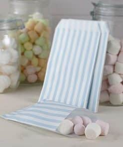 Wedding Vintage Lace Blue Stripe Candy Bags