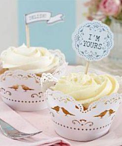 Wedding Vintage Lace Cupcake Wraps