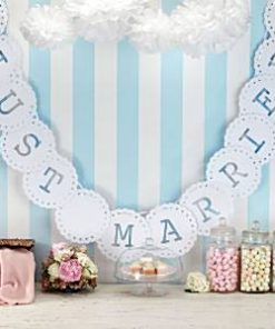 Wedding Vintage Lace Just Married Bunting