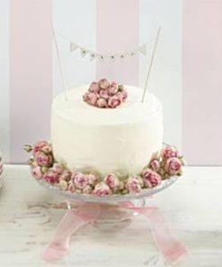 Wedding Vintage Lace 'Mr and Mrs' Ivory Cake Bunting