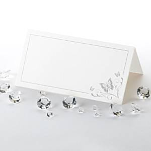 Wedding Elegant Butterfly Silver Place Cards