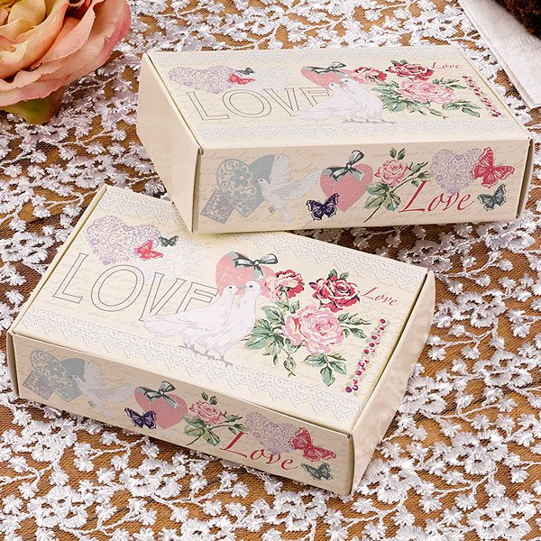 Wedding With Love Cake Boxes