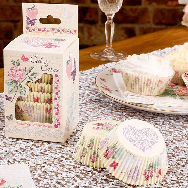 Wedding With Love Cupcake Cases