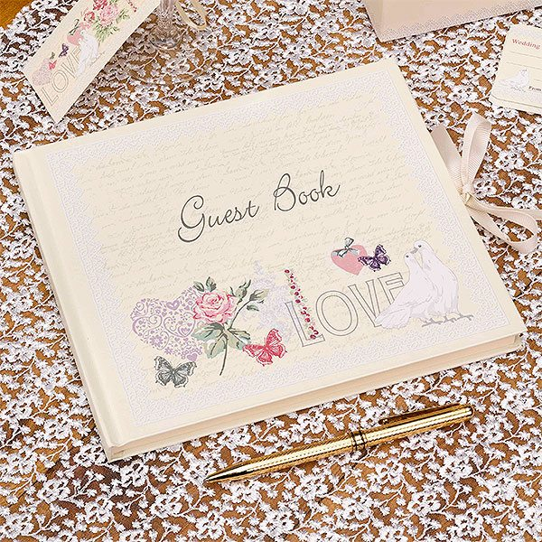 Wedding With Love Guest Book