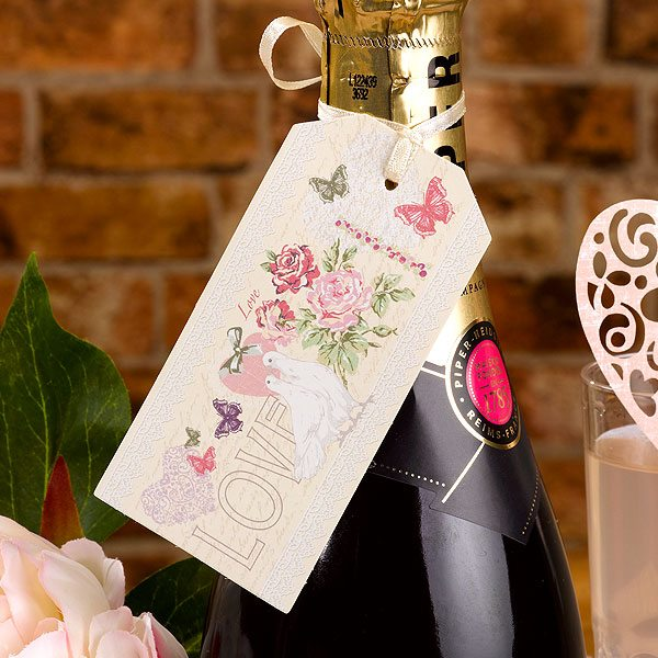 Wedding With Love Large Luggage Tags