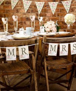 Wedding With Love 'Mr & Mrs' Chair Bunting
