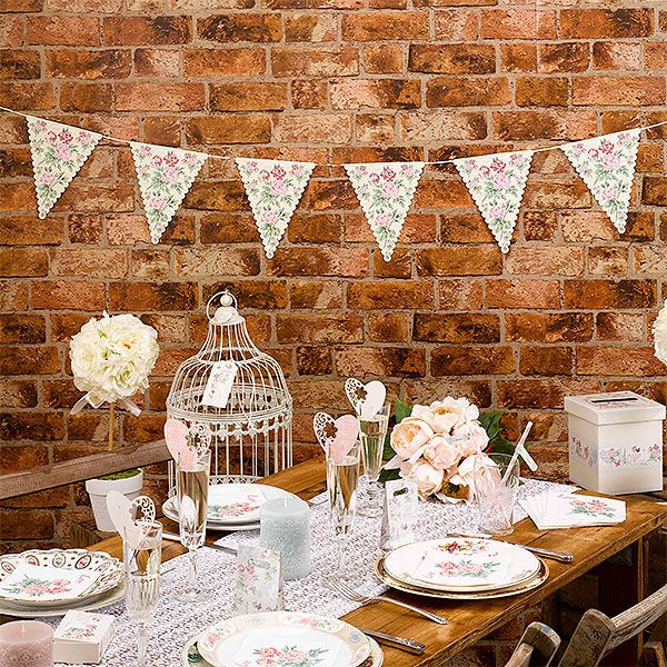 Wedding With Love Paper Bunting