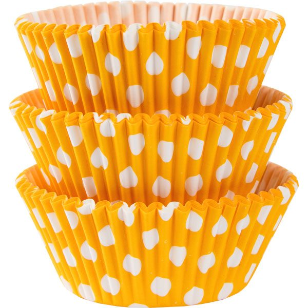 Yellow Dot Cupcake Cases