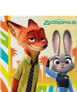 Zootropolis Party Paper Napkins