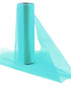 Aqua Organza Sheer Roll
