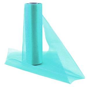 Aqua Organza Sheer Roll