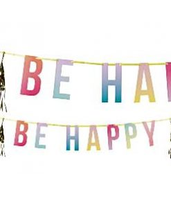 Be Happy Party Letter Banner