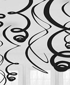 Black Hanging Swirls Decoration