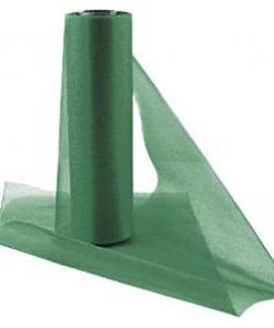 Bottle Green Organza Sheer Roll - 25m