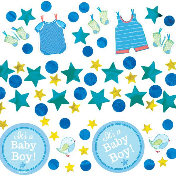 Boy's Shower With Love Confetti Pack