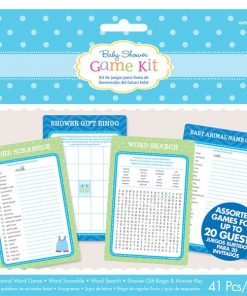 Boy's Shower With Love Party Game Kit