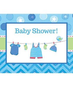 Boy's Shower With Love Party Invitations & Envelopes