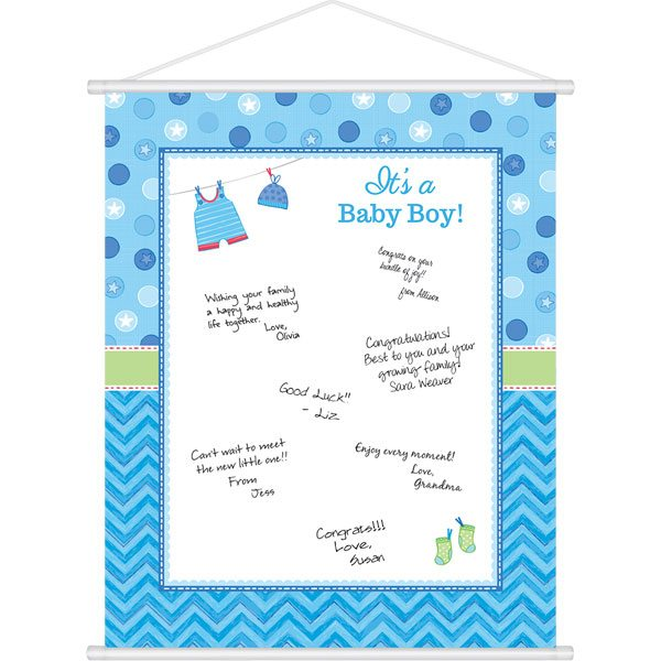 Boy's Shower With Love Party Sign In Sheet