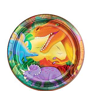 Buy Cheap Dinosaur Prehistoric Party Decorations Plates Invites Balloons In The UK