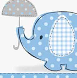 Blue Umbrellaphants Baby Shower