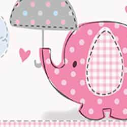Pink Umbrellaphants Baby Shower