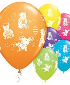 Cute & Cuddly Bears Assorted Printed Latex Balloons
