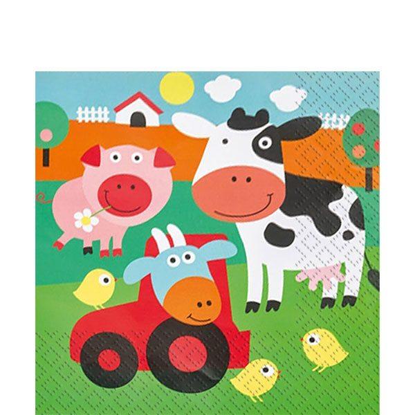 Farm Fun Party Paper Napkins