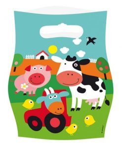Farm Fun Party Plastic Loot Bags