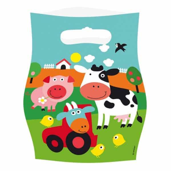 Farm Fun Party Plastic Loot Bags