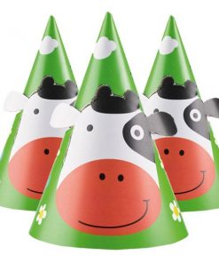 Farm Fun Party Cone Hats