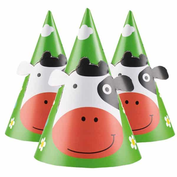 Farm Fun Party Cone Hats