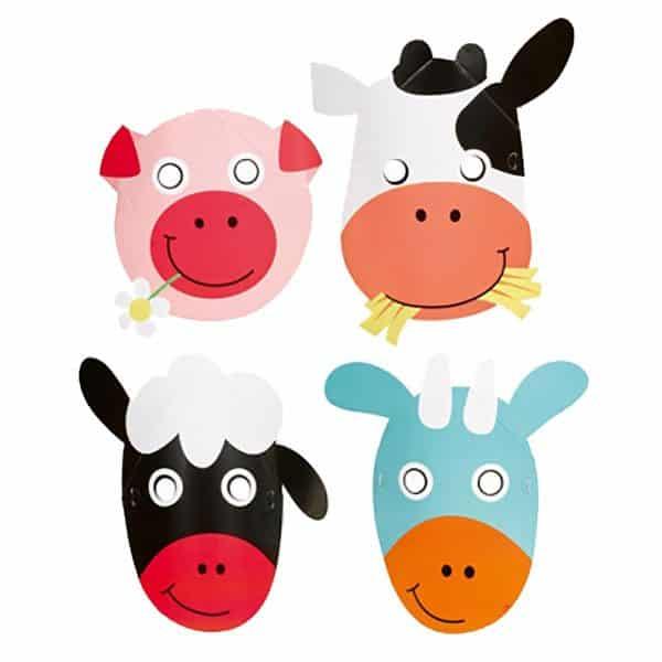 Farm Fun Party Masks