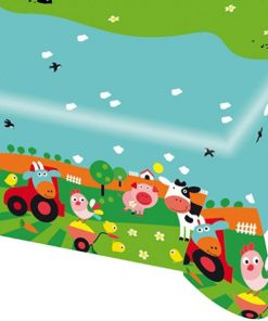 Farm Fun Party Plastic Tablecover