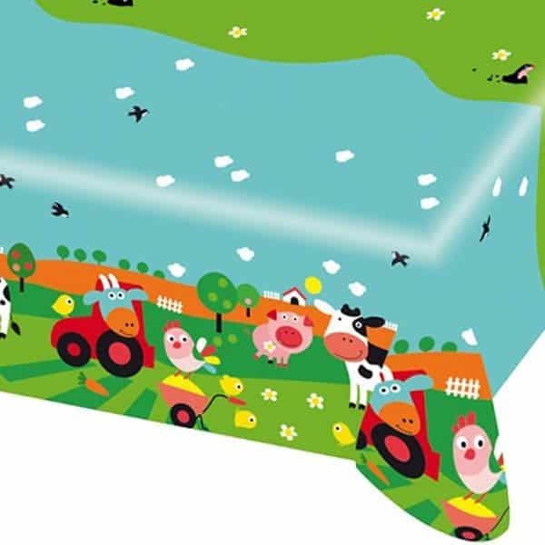 Farm Fun Party Plastic Tablecover