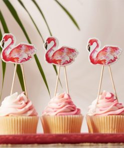Flamingo Fun Party Cake Toppers