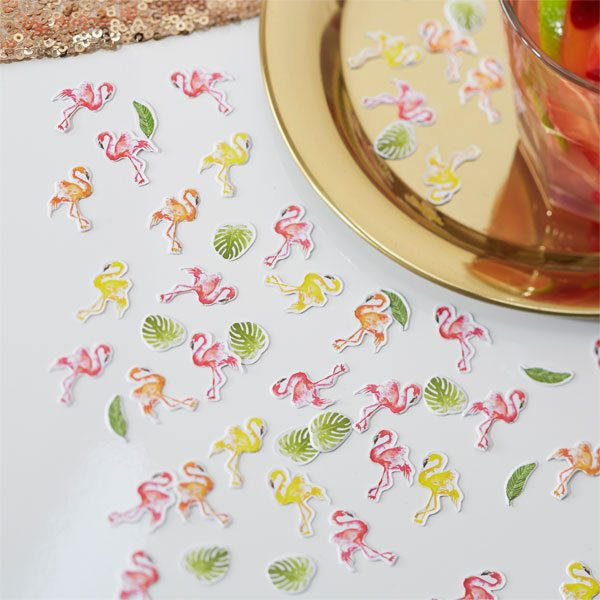 Flamingo Fun Party Table Confetti