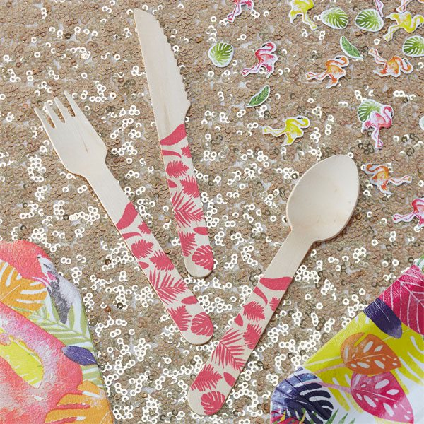Flamingo Fun Party Disposable Cutlery
