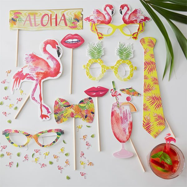 Flamingo Fun Party Photo Selfie Props