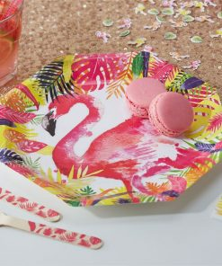 Flamingo Fun Party Paper Plates