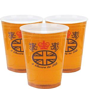 Union Jack Party Great Britain Pint Plastic Glasses