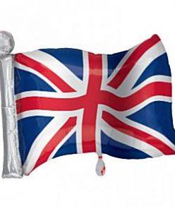 Great Britain Union Jack Supershape Flag Foil Balloon