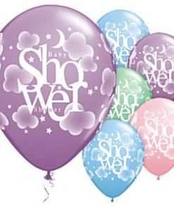 Heavenly Baby Shower Assorted Printed Latex Balloons