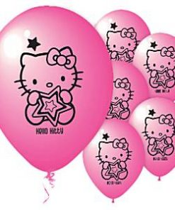Hello Kitty Party Printed Latex Balloons