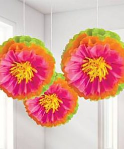Hibiscus Pom Pom Party Decorations