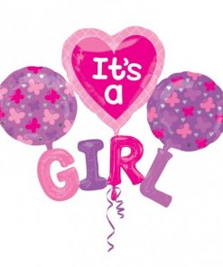 It's A Girl Multi Foil Balloon